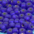 Rocaille matt dunkelblau mit Silbereinzug