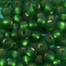 Rocaille matt dunkelgrün mit Silbereinzug