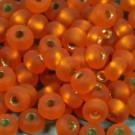 Rocaille matt orange mit Silbereinzug