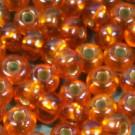 Rocaille 05/0 orange mit Silbereinzug