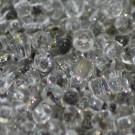 Rocaille kristall mit Silbereinzug