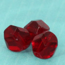 Glasschliffperlen rubinrot