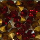 Strass-Steine siam gold-foiled