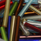 Glasstifte transparent Farbmix Silbereinzug
