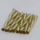 Glasstifte verdreht, helltopas mit Silbereinzug