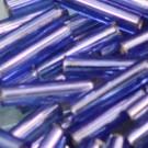 Glasstifte safirblau mit Silbereinzug