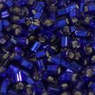 Glasstifte 2 mm dunkelblau/Silbereinzug