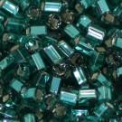 Glasstifte blaugrün mit Silbereinzug