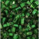 Glasstifte grün mit Silbereinzug