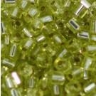Glasstifte hellgrün mit Silbereinzug
