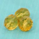 Glasschliffperlen topas
