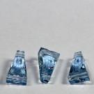 Trapezperlen aquamarine
