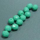 Glasschliffperlen türkis grün