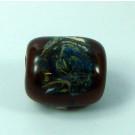 Tafelperle 23mm braun