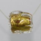 Glasperle mit Blattgoldeinzug