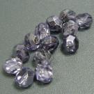 Glasschliffperlen tanzanit halbsilber